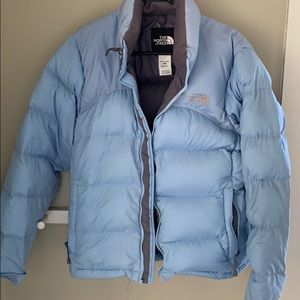 The North Face goose down jacket.